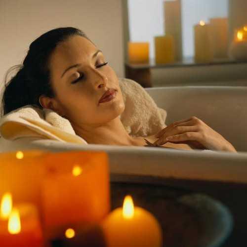 Woman Resting in Bath ca. 2001