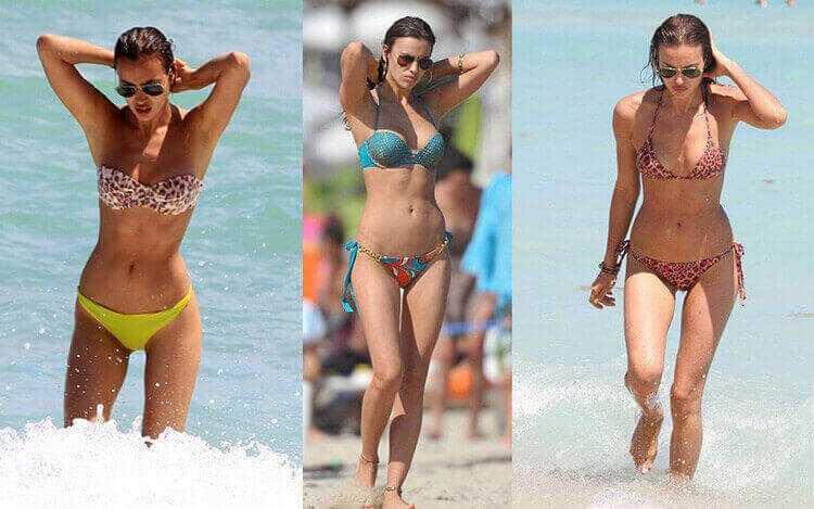 Ирина Шейк в купальниках до увеличения груди