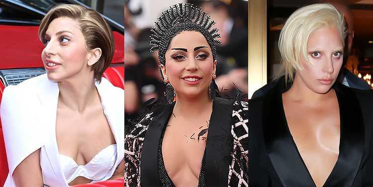 Леди Гага птоз груди