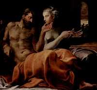 Одиссей и Пенелопа Francesco Primaticcio (1563).