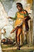 Фрагмент фрески древнего римского города Помпея (лат. Pompei)