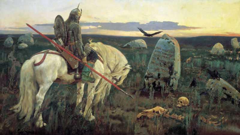 «Витязь на распутье» Виктор Михайлович Васнецов 1878 г.