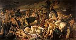 Амазонки так прославились боевыми победами, что бог Дионис заключил с ними союз для борьбы с титанами.