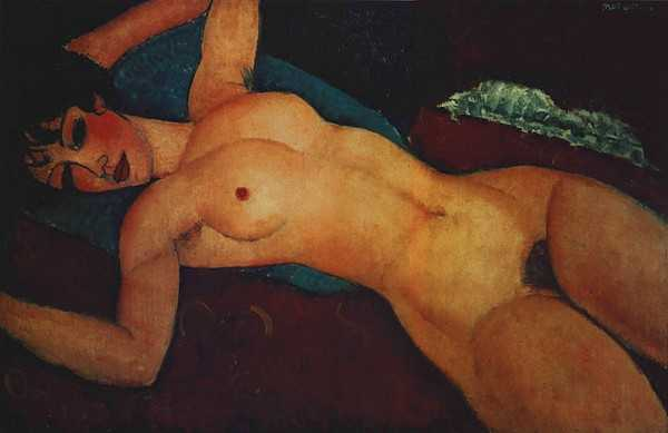 Амедео Модильяни Спящая обнаженная 1917
