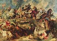 Битва греков с амазонками, 1618. Питер Пауль Рубенс.