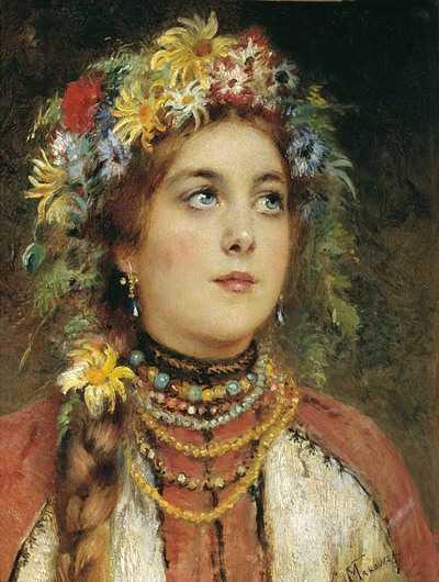 Константин Маковский (1839-1915) Русская красавица.